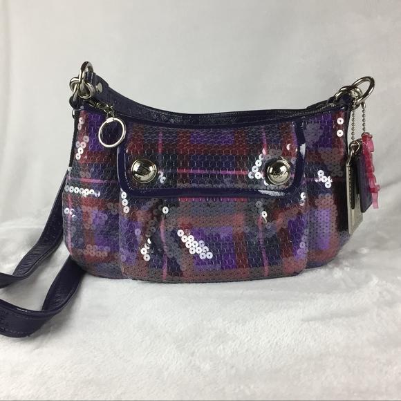 Coach Handbags - Coach  Poppy Sequin Tartan Groovy Bag  5c72548848
